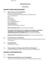Internet-Adresse(n) - PTB