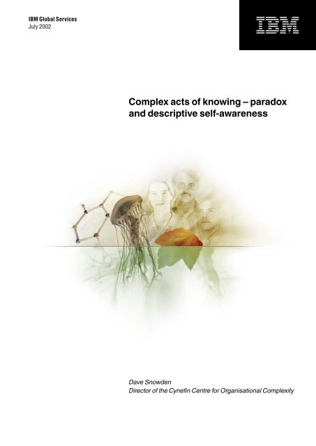 Complex acts of knowing – paradox and descriptive self ... - Fizzy.biz