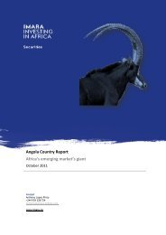 Imara African Cement Report Africa, the last cement frontier Angola ...