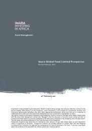 Imara Global Fund Limited Prospectus
