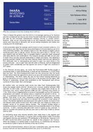 Equity Research Africa Rising Sub-Saharan Africa 1 June ... - Imara