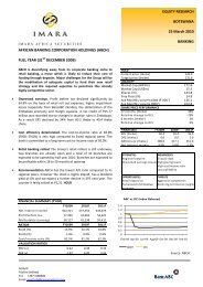 AFRICAN BANKING CORPORATION HOLDINGS (ABCH ... - Imara