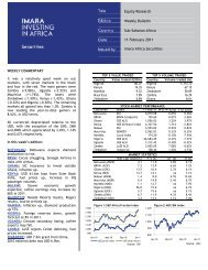 Equity Research Weekly Bulletin Sub-Saharan Africa 11 ... - Imara