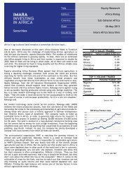 Equity Research Africa Rising Sub-Saharan Africa 06 May ... - Imara