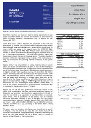 Equity Research Africa Rising Sub-Saharan Africa 30 April ... - Imara
