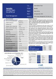 Imara Equity Fund Monthly South Africa 30 September 2012 Imara ...