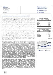 Equity Research Sub-Saharan Africa 26 February 2013 ... - Imara