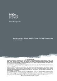 Imara African Opportunities Fund Limited Prospectus