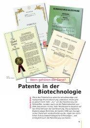 Patente in der Biotechnologie