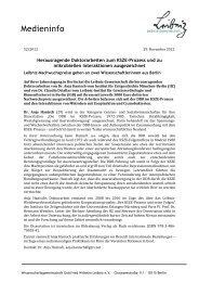 Medieninfo - Leibniz-Institut für Altersforschung