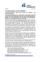 Pressemitteilung - InnovationsAllianz