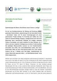 Presemitteilung (pdf) - Leibniz-Institut für Altersforschung