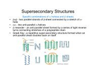 Supersecondary Structures