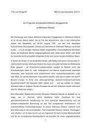 Zur Frage des zivilgesellschaftlichen Engagements im ... - BBE