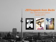 ZEITmagazin from Berlin - IQ media marketing
