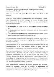 1 Forum IBA meets IBA 22. März 2013 Anna Becker ... - IBA Hamburg