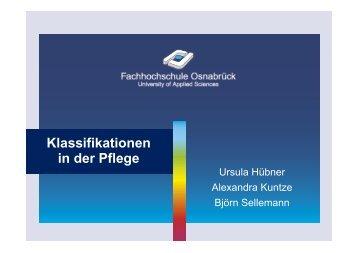 Klassifikationen in der Pflege - Institut für Medizinische Biometrie ...