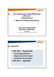 • OPS 2011 – Systematik • OPS 2011 – Alphabet