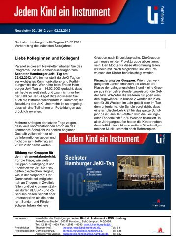 Newsletter 02/2012 Sechster Jeki-Tag ... - Hamburger Bildungsserver
