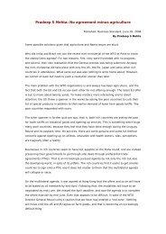 Pradeep S Mehta: No agreement minus agriculture - IMD