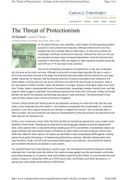 The Threat of Protectionism - IMD