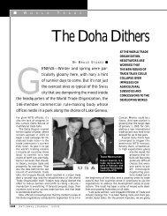 The Doha Dithers - IMD
