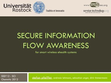 SECURE INFORMATION FLOW AWARENESS