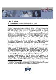 Trade and Ukraine - IMD