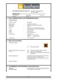 SICHERHEITSDATENBLATT nach EG-Richtlinien 93/112/EWG