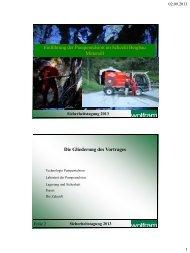Einführung von Pumpemulsion im Bergbau Mittersill der Wolfram ...