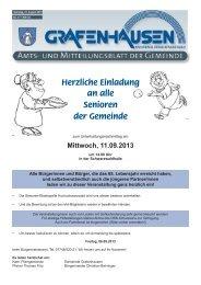 Mitteilungsblatt Nr. 17, KW 35 - Gemeinde Grafenhausen