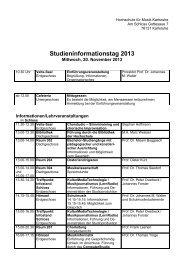 Staatliche Hochschule für Musik - HIT-Karlsruhe