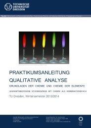 Praktikumsanleitung - Fachrichtung Chemie und Lebensmittelchemie