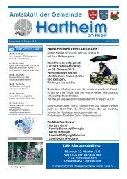 Gemeindeblatt 2013 KW42 - Gemeinde Hartheim