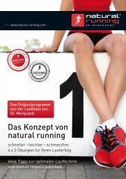 Das Konzept von natural running