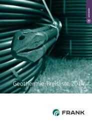 Geothermie-Preisliste 2014 - Frank GmbH