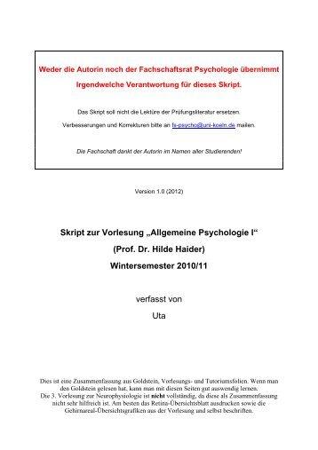 Psychologie skript jura hausarbeit schreiben tipps