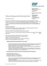 Einverständniserklärung - im Kantonsspital Winterthur