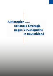 Aktionsplan für eine nationale Strategie gegen Virushepatitis in ...