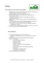 Ambulanter Pflegedienst Petra Hentschke – Patienten mit MRSA ...