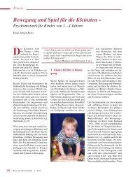 Bewegung und Spiel für die Kleinsten – - ErzieherIn.de