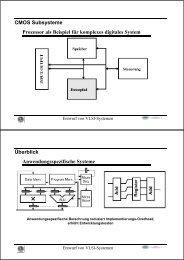 CMOS Subsysteme Prozessor als Beispiel für komplexes digitales ...