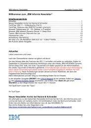 """Willkommen zum """"IBM Informix Newsletter ... - The Informix Zone"""