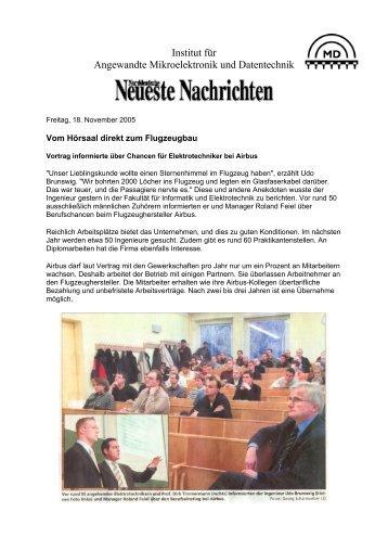 Norddeutscher Rundfunk - Institut für Angewandte Mikroelektronik ...