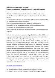 Rostocker Universität auf der CeBIT Fakultät für Informatik und ...