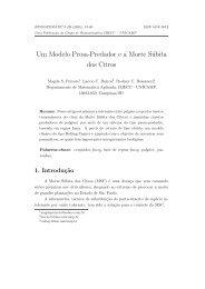 Um Modelo Presa-Predador e a Morte Súbita dos Citros - Unicamp