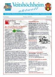 53. Jahrgang Montag, 1. Juli 2013 Nummer 26 - Veitshöchheim