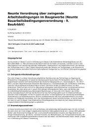 Neunte Bauarbeitsbedingungenverordnung - 9. BauArbbV