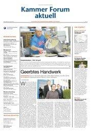 Geerbtes Handwerk - Handwerkskammer Dortmund