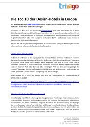 Die Top 10 der Design-Hotels in Europa - Trivago